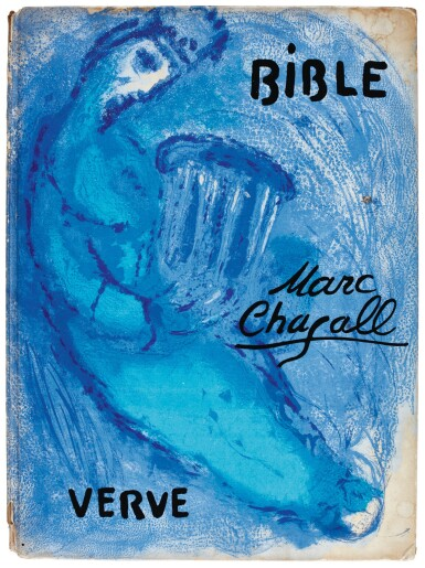 Chagall, Bible [Verve nos 33 and 34], lithographed illustrations, 1956, inscribed by Chagall
