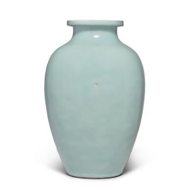 View 2. Thumbnail of Lot 82. A Guan-type ovoid jar, Qing dynasty, 18th / 19th century   清十八 / 十九世紀 仿官釉罐.