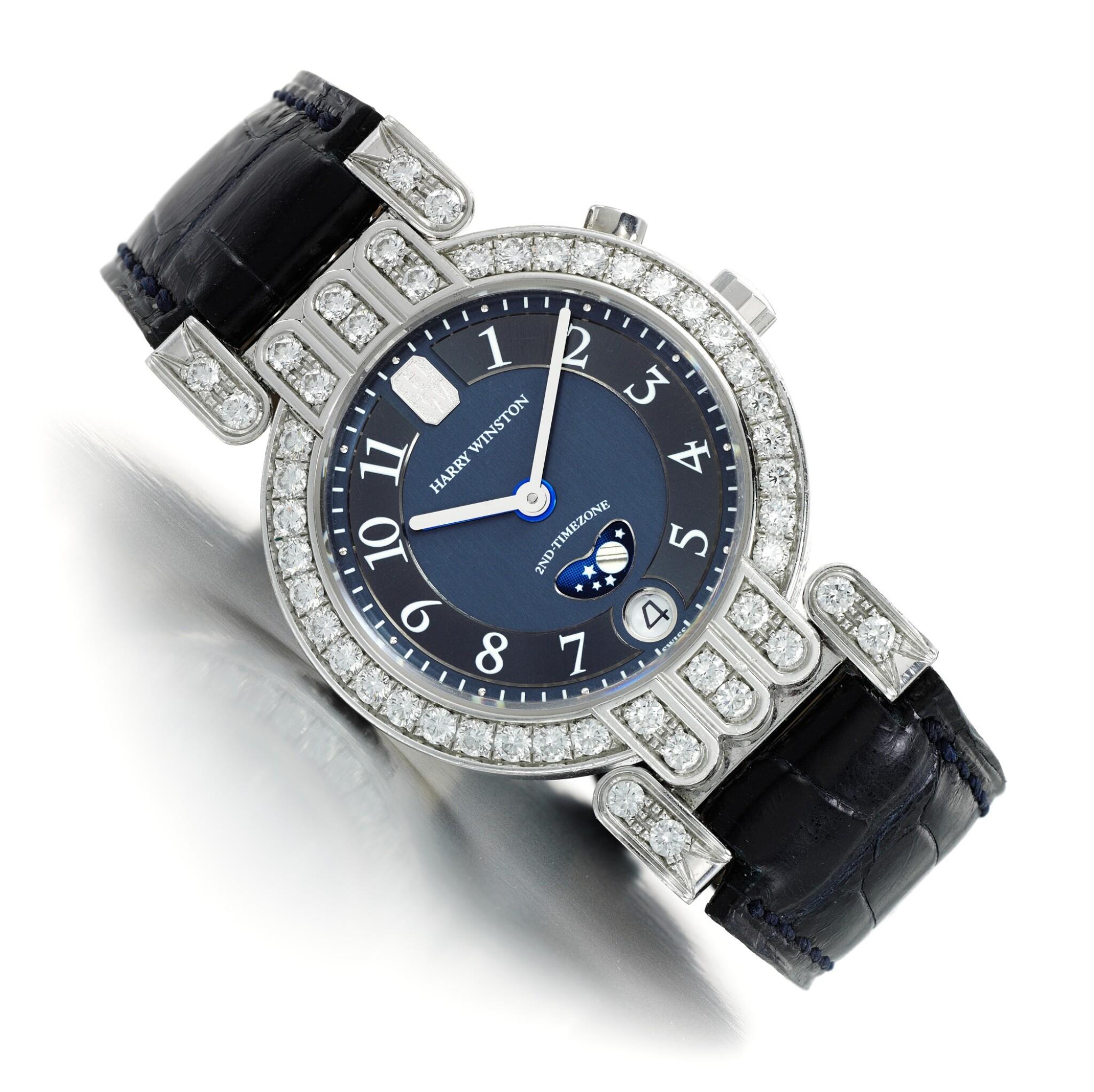 View full screen - View 1 of Lot 122. Harry Winston | Lady's diamond wristwatch, 'Premier'.
