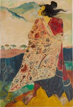 Hendra Gunawan 亨德拉·古拿溫   Woman with Batik Robe 身穿蠟染布的女人