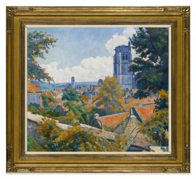 View 2. Thumbnail of Lot 34. Vue sur Tonnerre avec l'église Notre Dame.