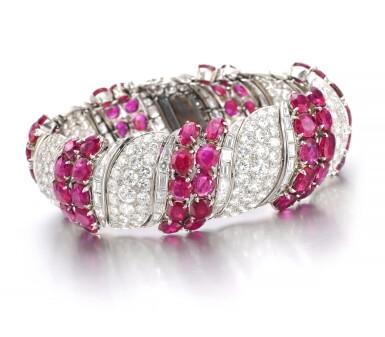View 2. Thumbnail of Lot 170. Ruby and diamond bracelet | 紅寶石配鑽石手鏈.