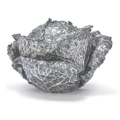 AN ITALIAN SILVER CABBAGE-FORM TUREEN AND COVER, GIANMARIA BUCCELLATI, MILAN, 20TH CENTURY
