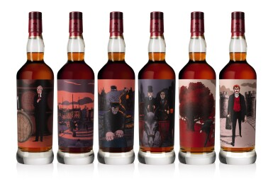 View 1. Thumbnail of Lot 1. The Macallan Red Collection with Exclusive Labels Illustrated by Javi Aznarez (6 bts 70cl).