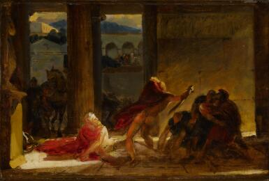 View 1. Thumbnail of Lot 53. The Death of Pyrrhus.