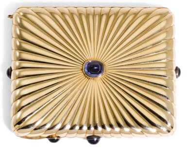 A JEWELLED GOLD VANITY CASE, UGO FRILLI, FLORENCE, IN RUSSIAN TASTE, CIRCA 1915