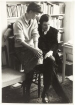 Sylvia Plath and Ted Hughes | photographic portrait by David Bailey, inscribed by Plath, 1961, and another press photo