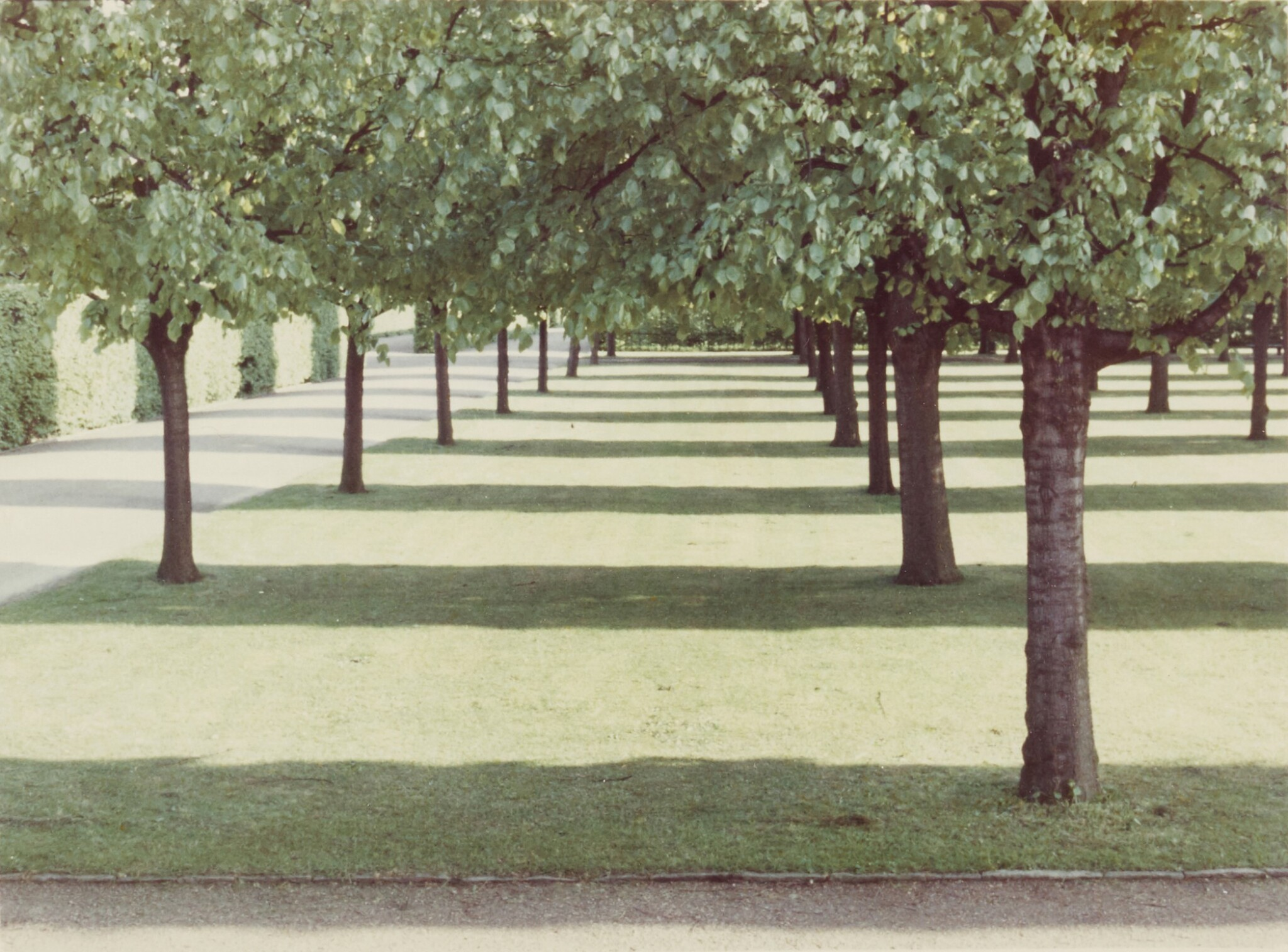 View full screen - View 1 of Lot 76.  DAVID HOCKNEY  | 'HERRENHAUSEN, HANNOVER', MAY 1970 (FROM THE PORTFOLIO TWENTY PHOTOGRAPHIC PICTURES).