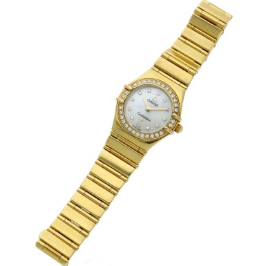 View 5. Thumbnail of Lot 28. Reference 895 1243 Constellation  A yellow gold and diamond-set bracelet watch with mother-of-pearl dial, Circa 1998 .