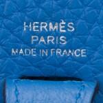 Hermès Bleu Zanizbar Evelyne TPM of Clemence Leather with Palladium Hardware