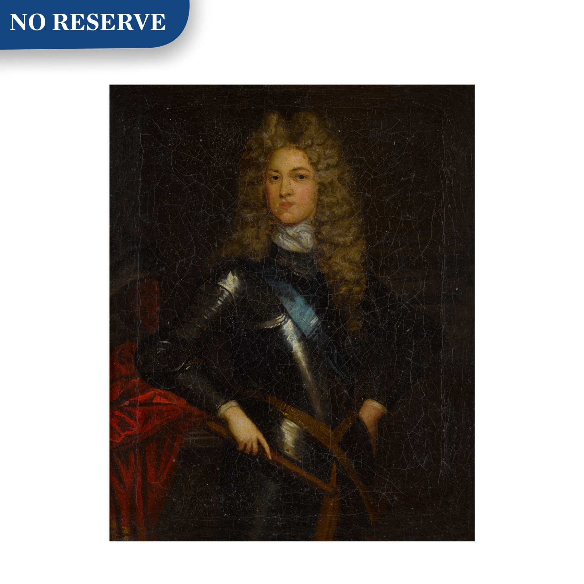 View full screen - View 1 of Lot 110. Portrait of a Gentleman, possibly John Churchill, First Duke of Marlborough (1650-1722).