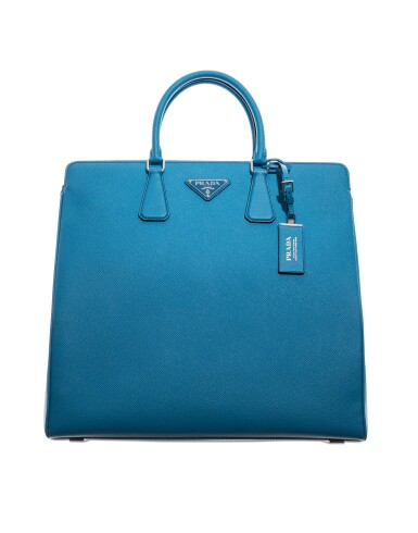 View 2. Thumbnail of Lot 58. PRADA |  TWO  SAFFIANO LEATHER GALLERIA TOTE BAGS IN BLUE AND IN GREEN UNIQUE COLORS NOT IN THE STORES.