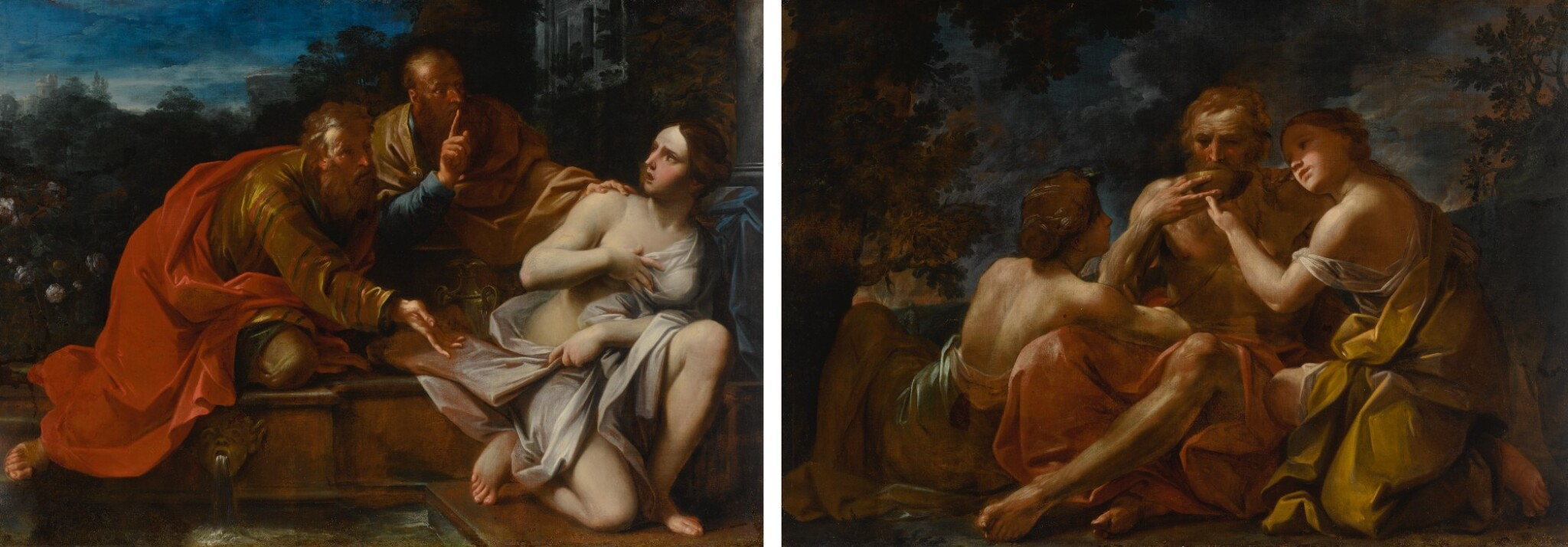 View full screen - View 1 of Lot 643. Susanna and the Elders; Lot and His Daughters.