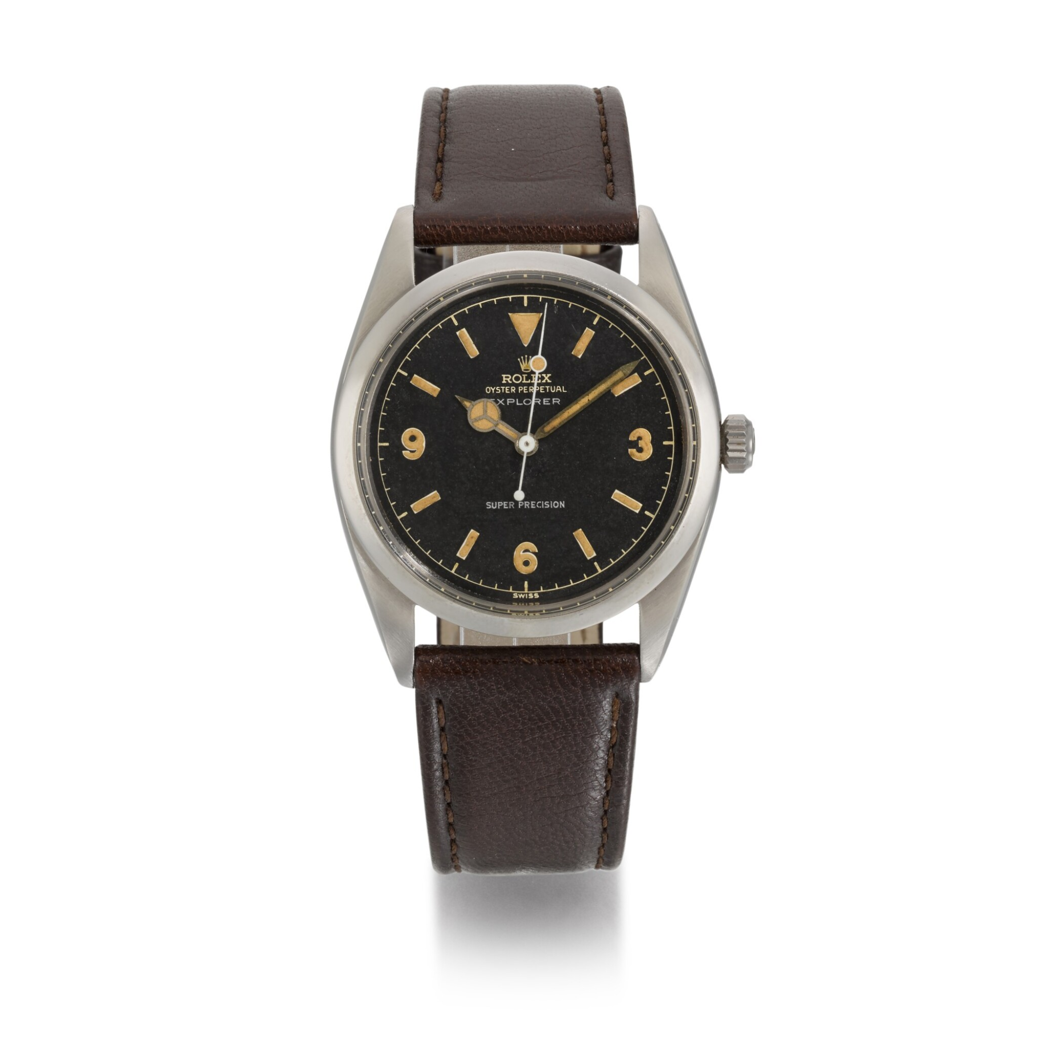 View full screen - View 1 of Lot 364. ROLEX   EXPLORER, REF 5504, STAINLESS STEEL WRISTWATCH, CIRCA 1958.