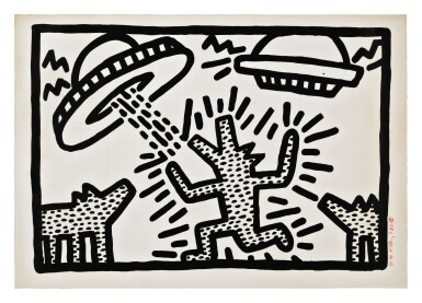 KEITH HARING | UNTITLED 1-6: ONE PLATE (LITTMANN P. 20)