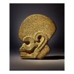 VERACRUZ STONE HEAD HACHA LATE CLASSIC, CIRCA AD 550 - 950