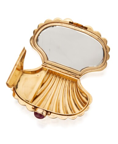 View 2. Thumbnail of Lot 6. GOLD AND RUBY COMPACT, VAN CLEEF & ARPELS, FRANCE.