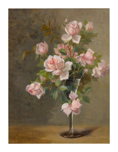 JULIA MCENTEE DILLON | PINK ROSES IN A GLASS