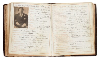 WILDE | 'Confessions of Tastes, Habits and Convictions', authorial manuscript, 1877