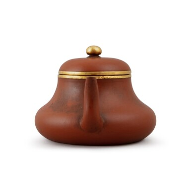 View 4. Thumbnail of Lot 24. A Yixing teapot and cover, after Hui Mengchen, Late Qing dynasty.