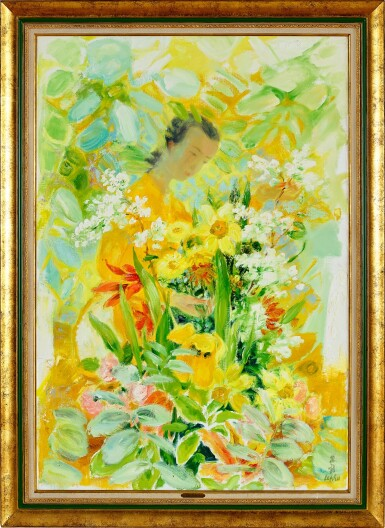 View 2. Thumbnail of Lot 4504. Lady with Flowers | 女子與花.