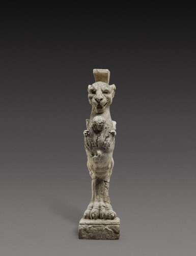 View 1. Thumbnail of Lot 140. Italian, 19th century, After the Antique   Table Leg in the form of a Lion.