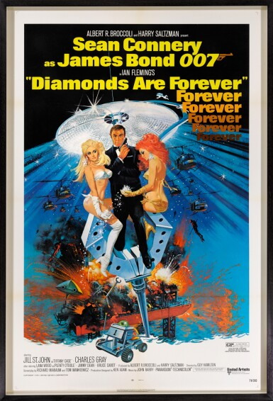 View 2. Thumbnail of Lot 95. DIAMONDS ARE FOREVER (1971) POSTER, US.
