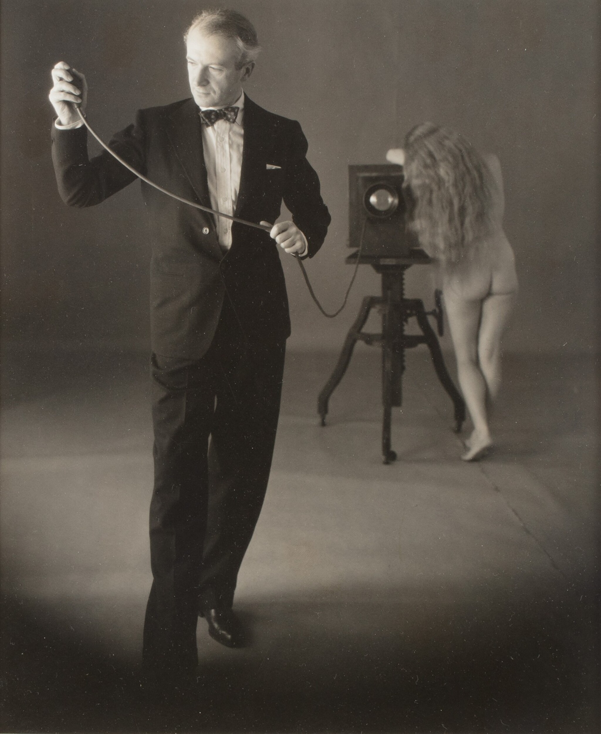 View full screen - View 1 of Lot 15. Irving Penn   Cecil Beaton with Nude, New York, 1946 .