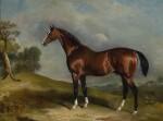 John Ferneley Snr. | PORTRAIT OF SULTAN, A RACEHORSE, IN A LANDSCAPE