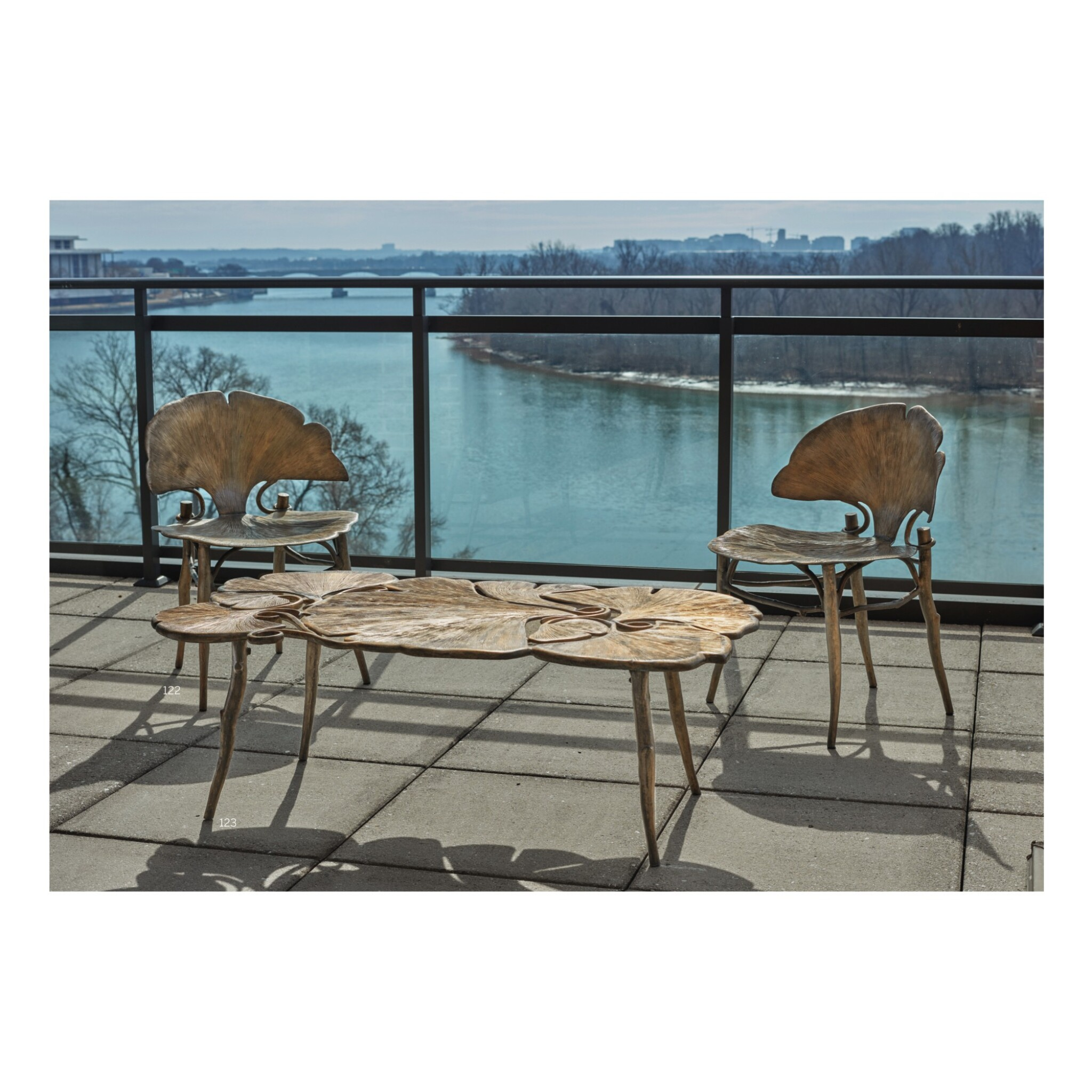 "View full screen - View 1 of Lot 122. Pair of ""Ginkgo"" Side Chairs."
