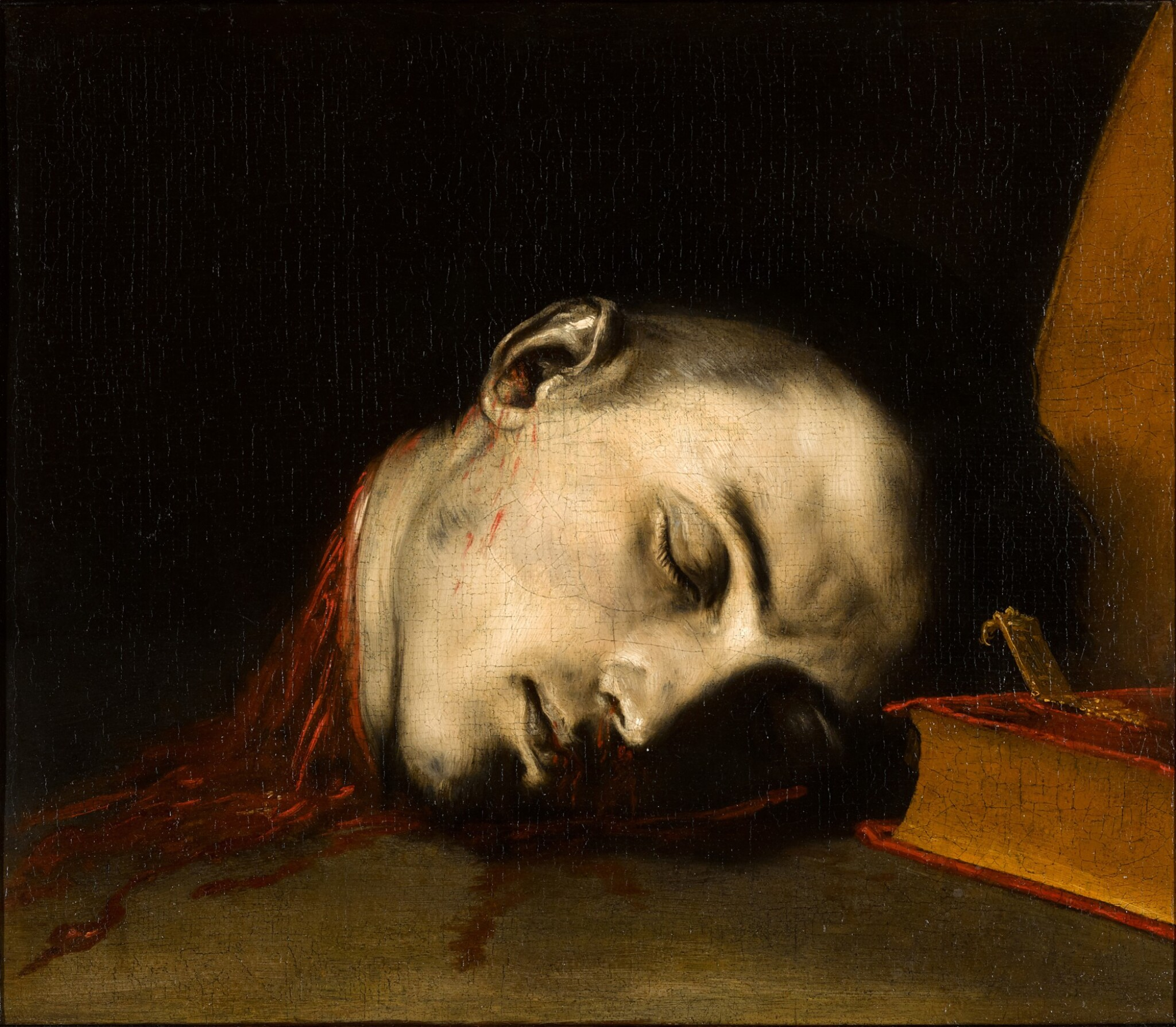 View full screen - View 1 of Lot 51. JUSEPE DE RIBERA, CALLED SPAGNOLETTO  |  THE SEVERED HEAD OF SAINT JANUARIUS.