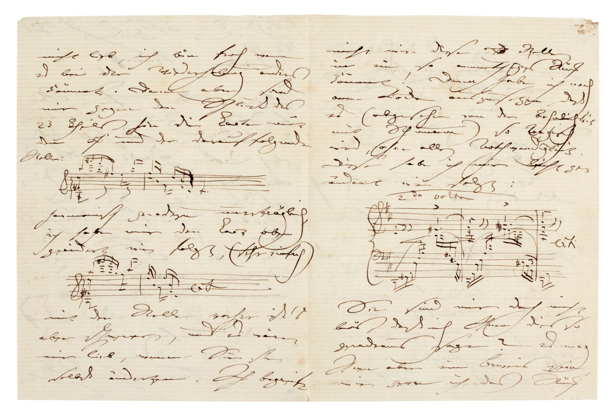 View full screen - View 1 of Lot 35. Clara Schumann. 215 unpublished letters to the composer and environmentalist Ernst Rudorff, with his replies, 1858-1896.