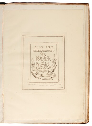 View 1. Thumbnail of Lot 91. BLAKE | Illustrations of the Book of Job, 1825 [but 1826].