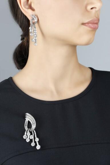 MAUBOUSSIN | DIAMOND DEMI-PARURE, 1950S [ Mauboussin|鑽石首飾套裝,1950年代]