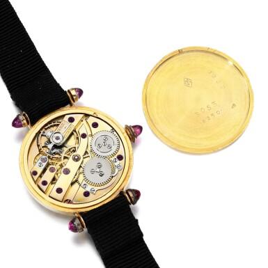 View 3. Thumbnail of Lot 185. Lady's gem set and enamel wristwatch.