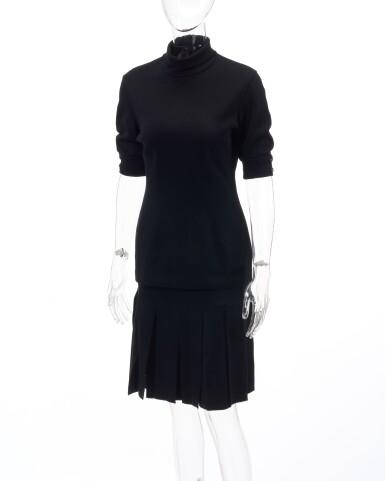 Black wool ensemble