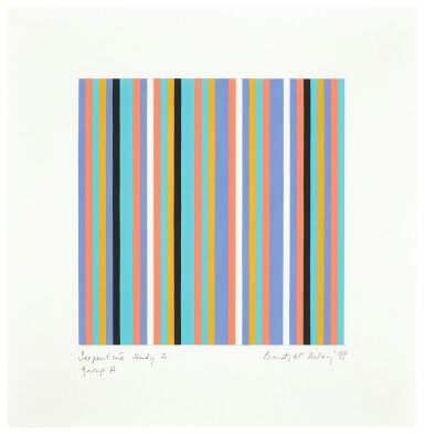 View 1. Thumbnail of Lot 653. BRIDGET RILEY | SERPENTINE STUDY 2, GROUP A.
