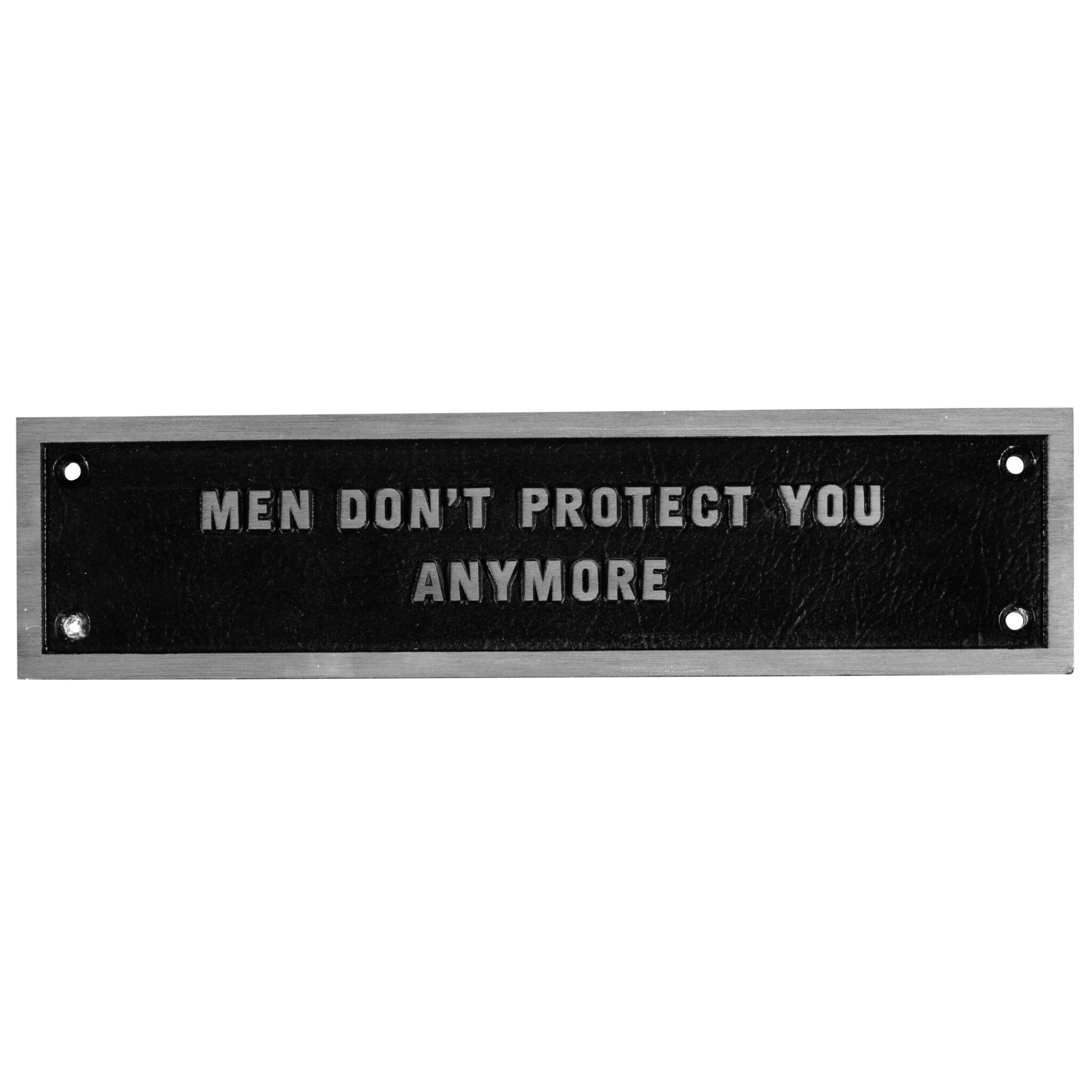 View full screen - View 1 of Lot 9. JENNY HOLZER | THE SURVIVAL SERIES: MEN DON'T PROTECT YOU ANYMORE.