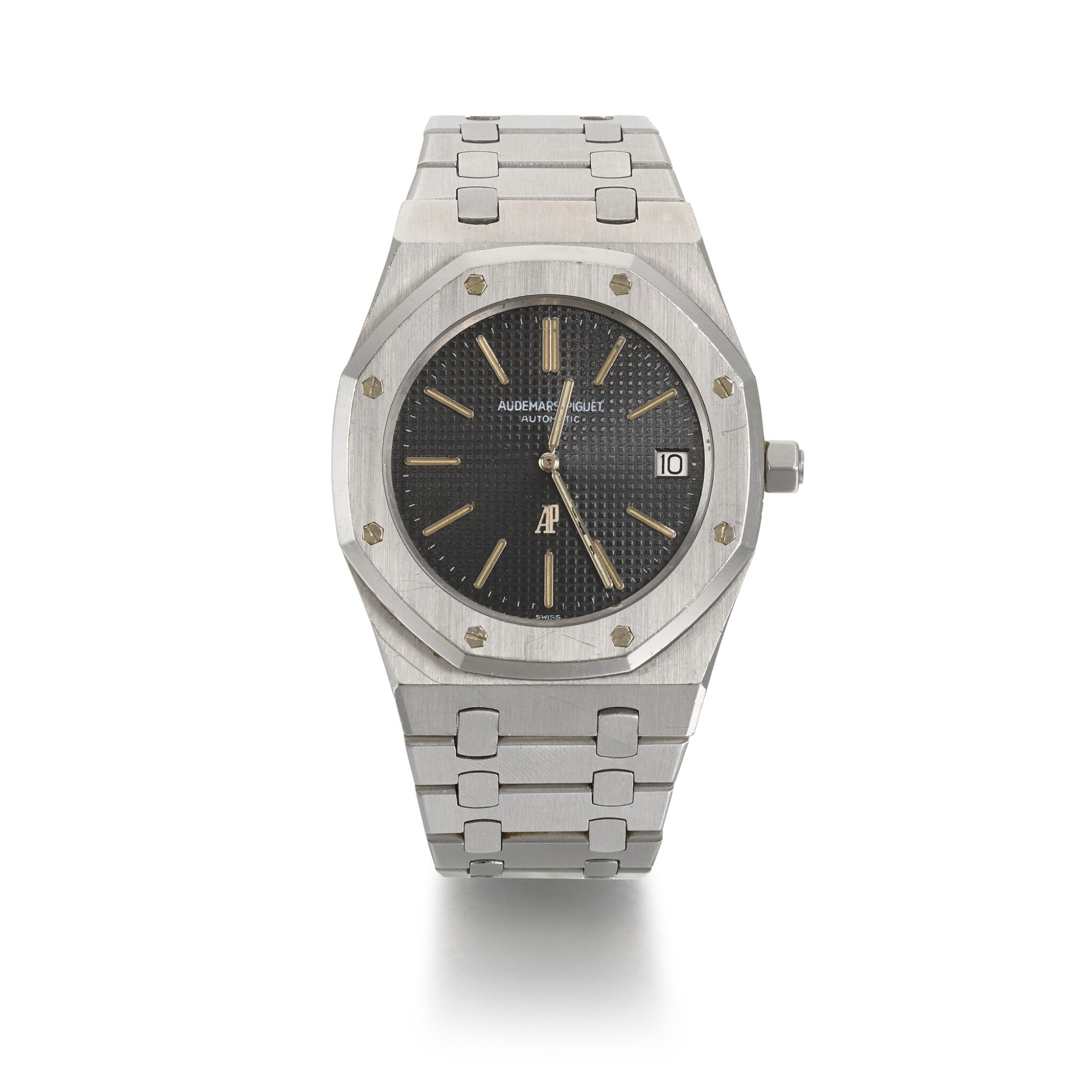 View full screen - View 1 of Lot 333. AUDEMARS PIGUET   NON SERIES ROYAL OAK REF 5402, STAINLESS STEEL WRISTWATCH WITH DATE AND BRACELET, CIRCA 1974.
