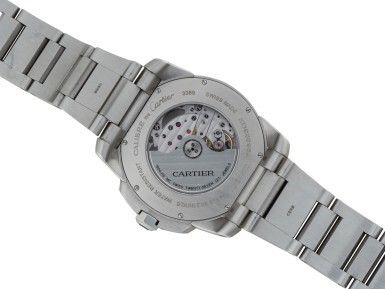 View 3. Thumbnail of Lot 16. CARTIER | CALIBRE DE CARTIER, REFERENCE 3389, STAINLESS STEEL WRISTWATCH WITH DATE AND BRACELET, CIRCA 2011.