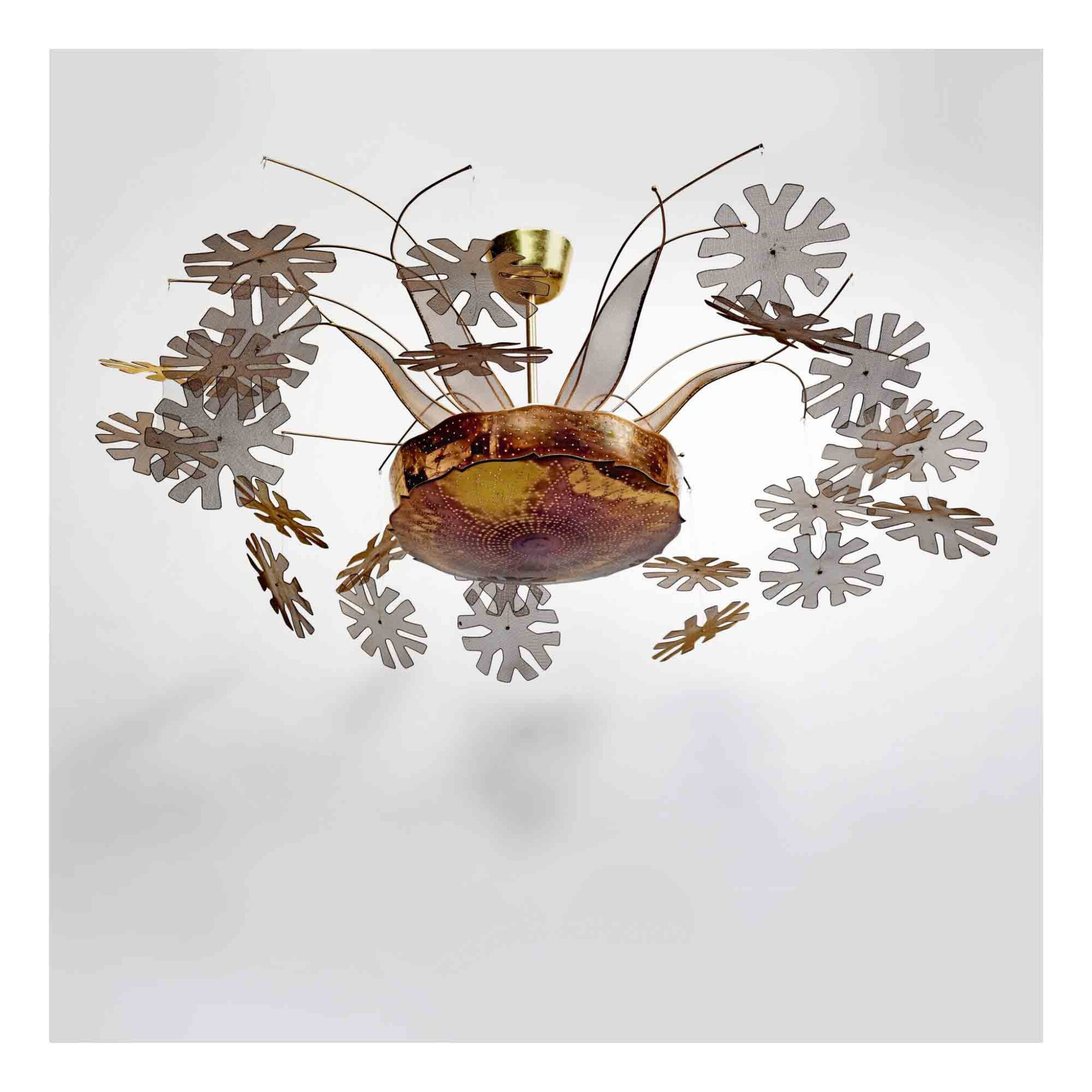 "View 1 of Lot 413. A Rare ""Snowflake"" Ceiling Light, Model No. 10109."