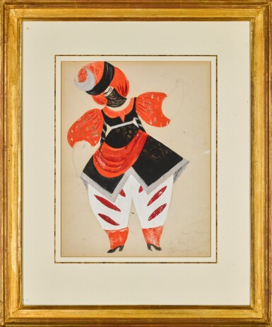 View 2. Thumbnail of Lot 80. Costume Design for a Persian in Le Coq d'Or.