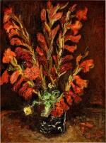 Vincent van Gogh 文森・梵高 | Nature Morte: Vase Aux Glaïeuls 靜物:花瓶與菖蘭