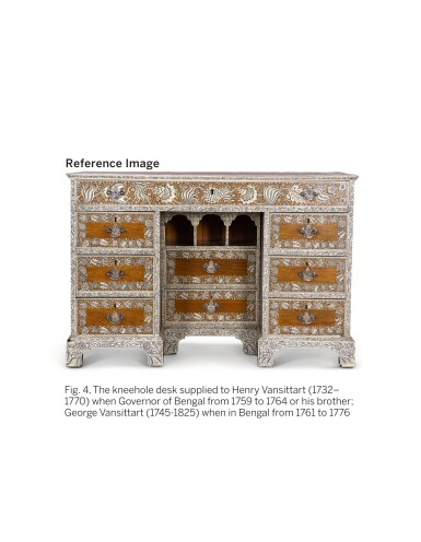 View 13. Thumbnail of Lot 175. AN ANGLO-INDIAN IVORY INLAID ROSEWOOD WRITING OR DRESSING TABLE, VIZAGAPATAM, MID-18TH CENTURY.