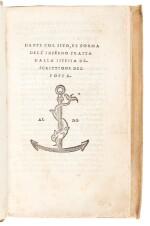 Dante, Dante col sito e forma dell'Inferno, Venice, Aldus, 1515, old vellum