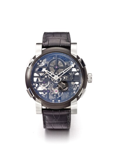 ROMAIN JEROME | SKYLAB BATMAN A LIMITED EDITION PVD COATED STAINLESS STEEL AUTOMATIC WRISTWATCH CIRCA 2010