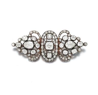 View 3. Thumbnail of Lot 3. Diamond brooch (Spilla in diamanti), 1880.