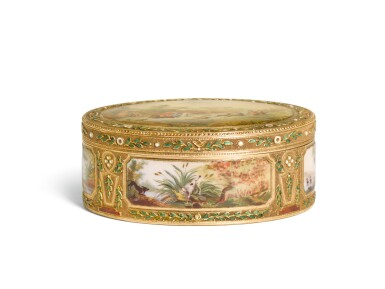 View 2. Thumbnail of Lot 55. A GOLD ENAMEL AND SNUFF BOX, PROBABLY GERMAN, LATE 18TH CENTURY.