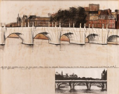 View 1. Thumbnail of Lot 112. The Pont Neuf Wrapped (Project for Pont Neuf, Paris)     .