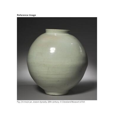 View 9. Thumbnail of Lot 129. A luminous white moon jar, Korea, Joseon dynasty, 18th century | 朝鮮王朝 十八世紀 白釉滿月花罐.